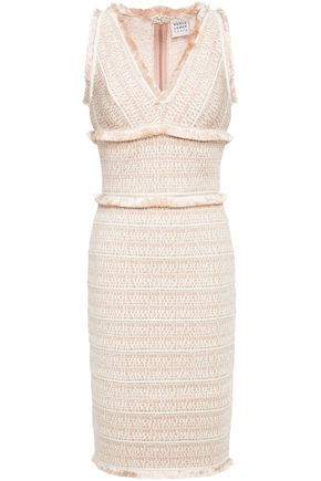 HERVÉ LÉGER فستان محاك بالجاكار مع حواف منسلة
