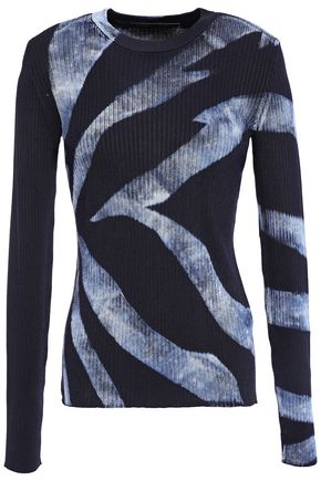 PROENZA SCHOULER Printed ribbed-knit top