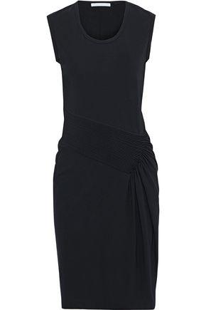 HELMUT LANG Pintucked stretch-jersey dress