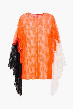 CHRISTOPHER KANE Color-block lace top
