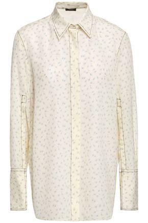 """JOSEPH قميص """"مايسون وولف"""" من قماش كريب دي شين الحريري المطبع بالورود"""
