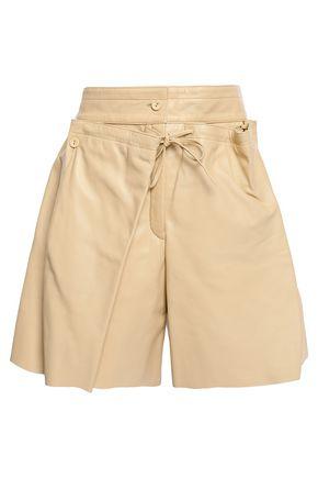 JOSEPH Layered leather shorts