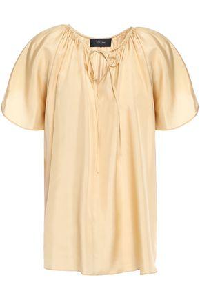 JOSEPH Rita gathered silk crepe de chine blouse