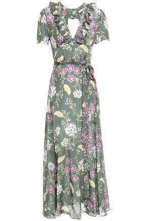 byTIMO Camelia floral-print mousseline maxi wrap dress