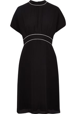 MIKAEL AGHAL Gathered crepe dress