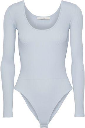 TIBI Ribbed stretch-jersey bodysuit