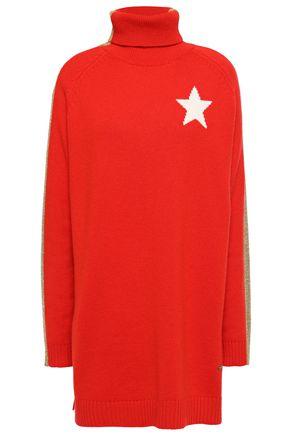 BELLA FREUD Intarsia cashmere-blend turtleneck sweater