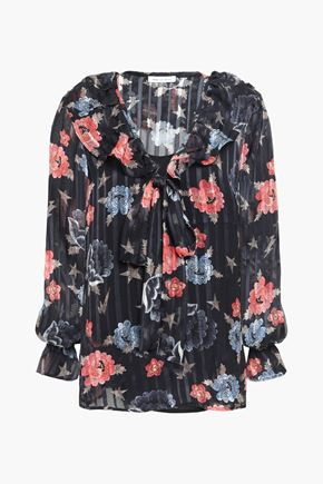 LILY AND LIONEL Printed chiffon blouse