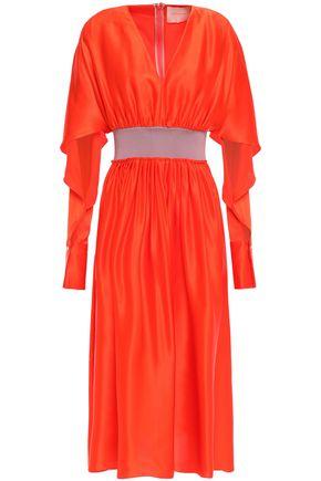 ROKSANDA Belted cutout silk crepe de chine dress