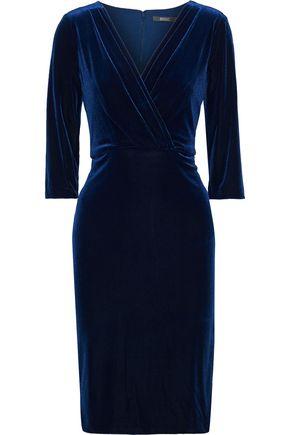 BADGLEY MISCHKA Gathered velvet dress