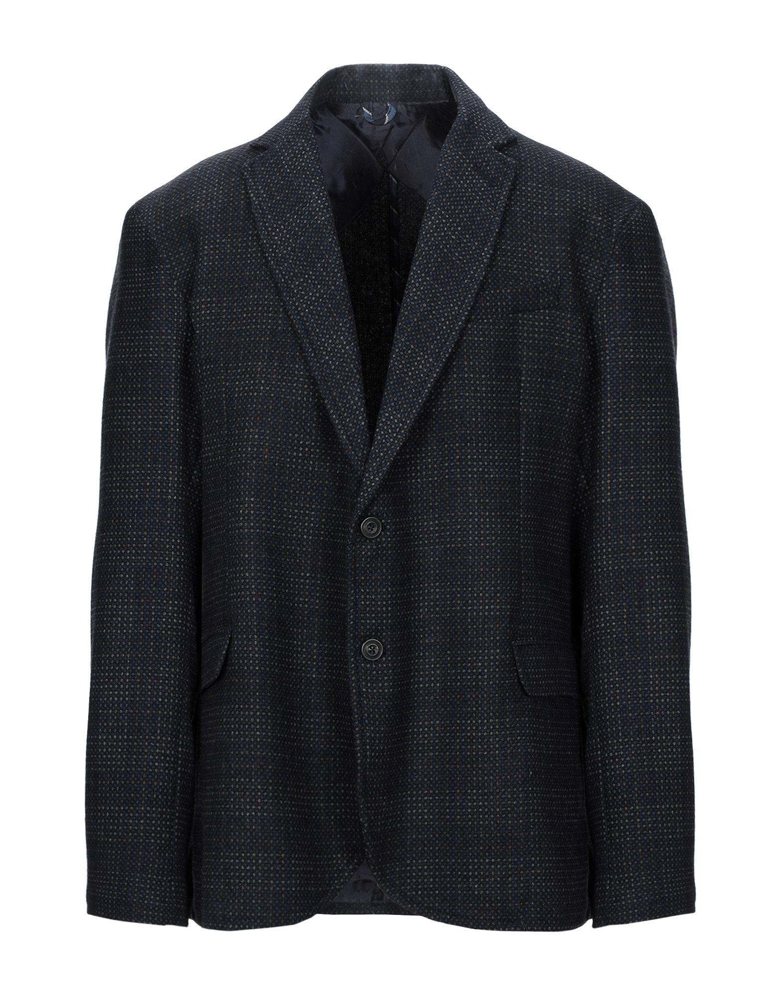 《セール開催中》TRUSSARDI JEANS メンズ テーラードジャケット ダークブルー 56 ウール 55% / ポリエステル 35% / ナイロン 10%