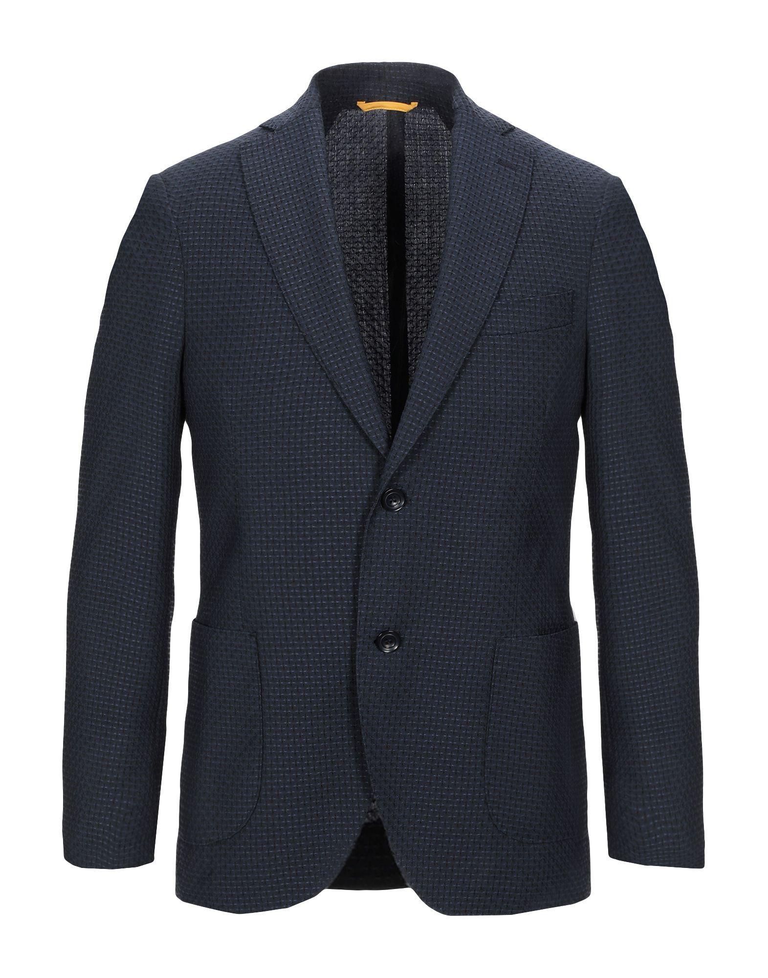 《セール開催中》FABIO BALDAN メンズ テーラードジャケット ブルー 48 バージンウール 100%