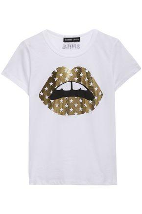 MARKUS LUPFER Kelly metallic printed cotton-jersey T-shirt