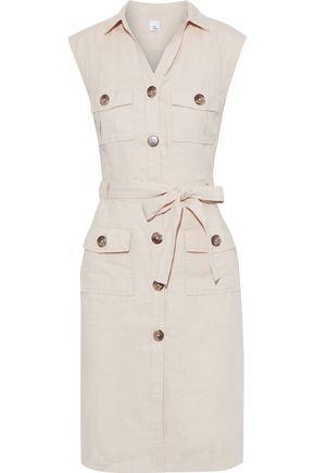 IRIS & INK Hesperaloe belted linen dress