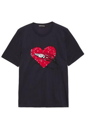 MARKUS LUPFER Alex sequin-embellished cotton-blend jersey T-shirt
