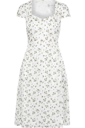 MIKAEL AGHAL Floral-print burnout georgette dress