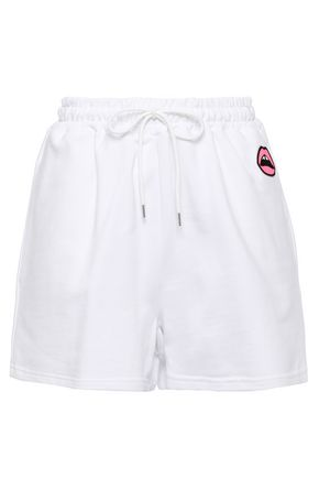 MARKUS LUPFER Nicole appliquéd French cotton-terry shorts