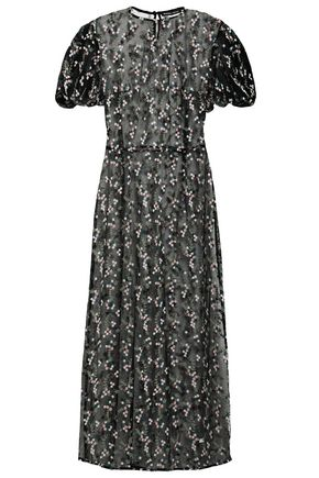 MARKUS LUPFER Georgia embroidered tulle midi dress
