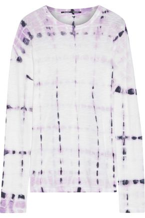 PROENZA SCHOULER Tie-dyed slub cotton-jersey top