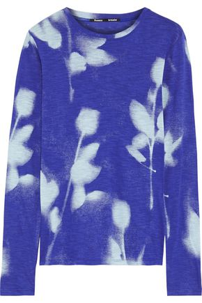 PROENZA SCHOULER Printed slub cotton-jersey top
