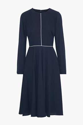 MIKAEL AGHAL Fluted crepe dress