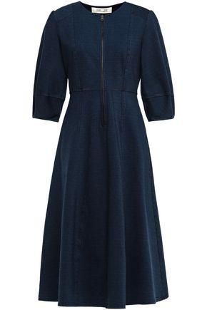 DIANE VON FURSTENBERG Thea mélange cotton-blend jersey dress
