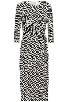 DIANE VON FURSTENBERG Pearl wrap-effect printed silk-jersey dress