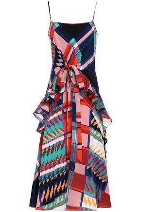 DIANE VON FURSTENBERG Josie ruffle-trimmed printed silk crepe de chine dress