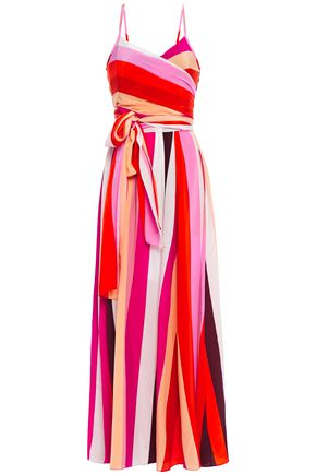 DIANE VON FURSTENBERG Azalea striped silk crepe de chine maxi dress