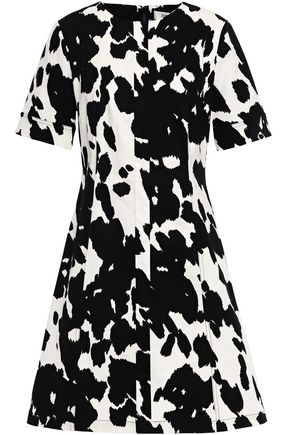 DIANE VON FURSTENBERG Lena printed stretch cotton-gabardine mini dress