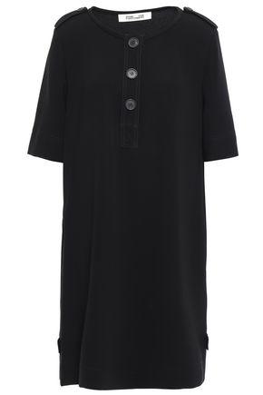 DIANE VON FURSTENBERG Amara button-embellished cady mini dress