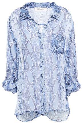 DIANE VON FURSTENBERG Snake-print silk blouse