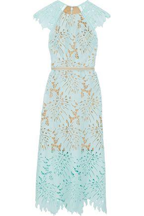 CATHERINE DEANE Nala crochet-trimmed guipure lace midi dress