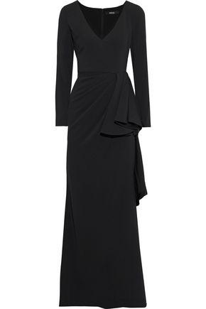 BADGLEY MISCHKA Draped crepe-jersey gown