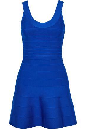 HERVÉ LÉGER فستان قصير بتصميم ضيق مع أطراف واسعة