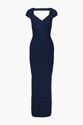 HERVÉ LÉGER فستان سهرة بتصميم ضيق