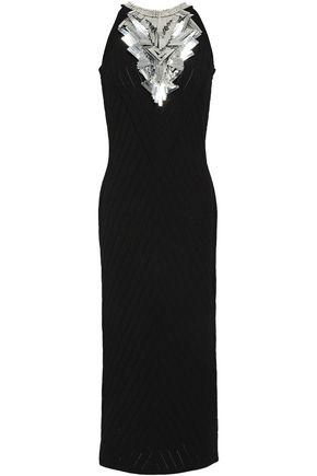 BALMAIN Sequin-embellished knitted midi dress