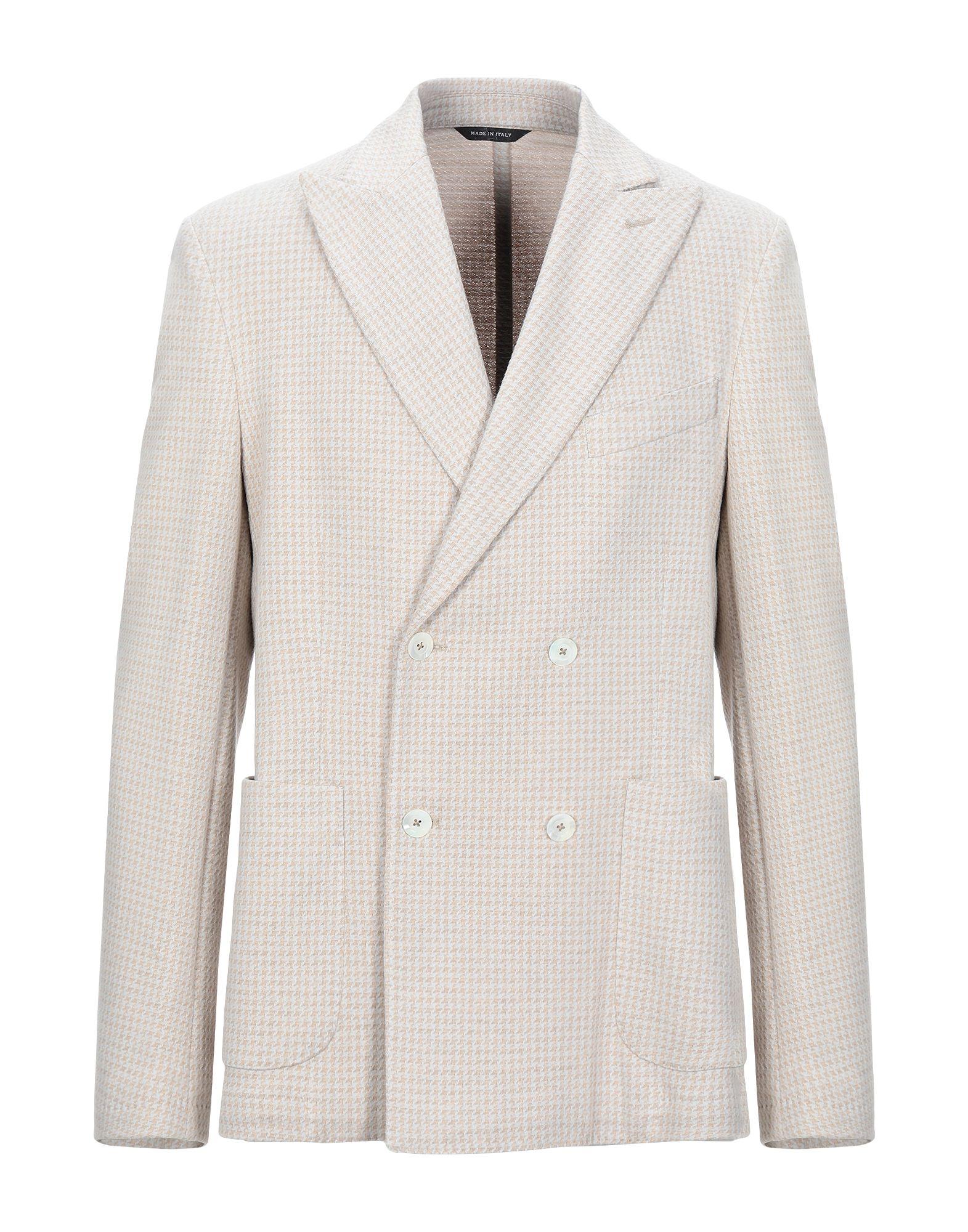 《セール開催中》ALVIERO MARTINI 1a CLASSE メンズ テーラードジャケット ベージュ 50 コットン 100%