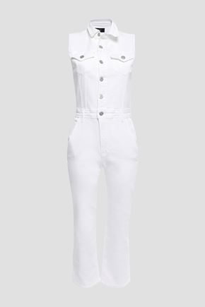 3x1 Cropped denim jumpsuit