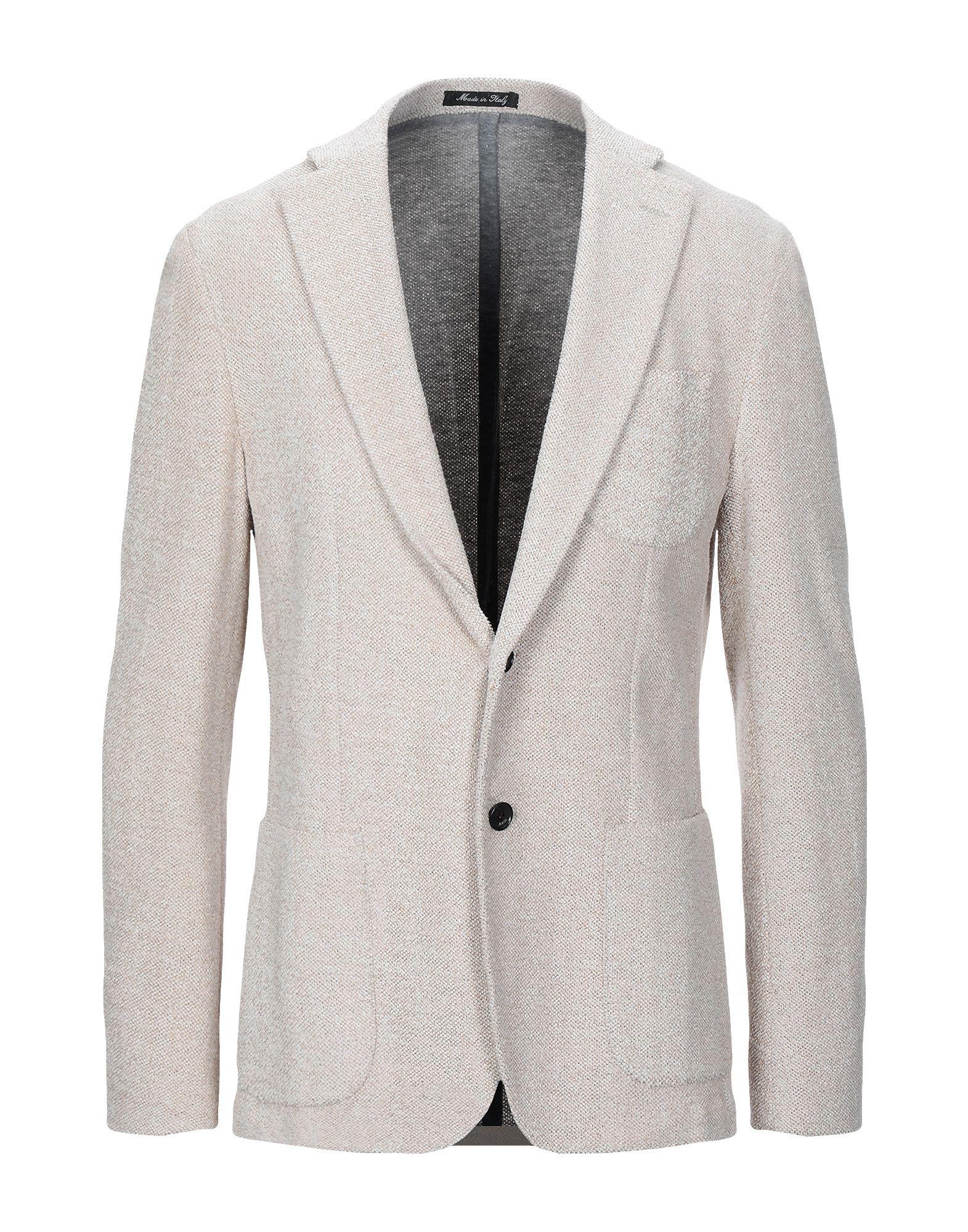 《セール開催中》ALVIERO MARTINI 1a CLASSE メンズ テーラードジャケット ベージュ 50 コットン 92% / ナイロン 8%
