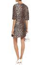 DOLCE & GABBANA Leopard-print crepe mini dress