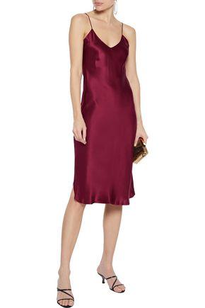 NILI LOTAN Silk-charmeuse slip dress