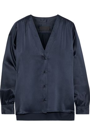 NILI LOTAN Elsie silk-satin blouse