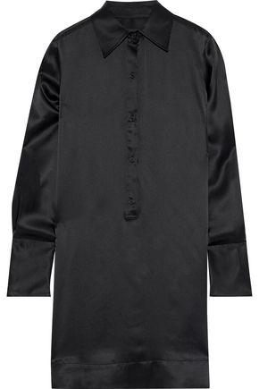 NILI LOTAN Cassidy silk-satin mini shirt dress
