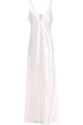 MICHAEL LO SORDO Silk-satin midi slip dress