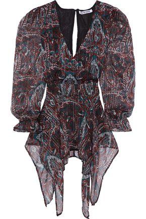 WALTER BAKER Warron asymmetric wrap-effect printed georgette blouse
