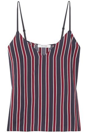 FRAME Classic striped charmeuse camisole