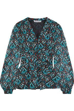WALTER BAKER Joan printed metallic georgette peplum blouse