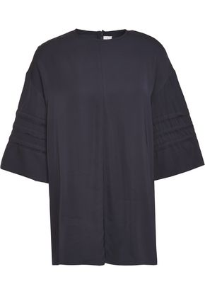 VICTORIA, VICTORIA BECKHAM Tie-detailed crepe de chine top