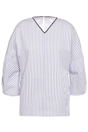 VICTORIA, VICTORIA BECKHAM Striped cotton-poplin blouse